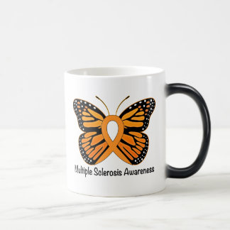 Multiple Sclerosis Awareness Ribbon with Butterfly Magic Mug