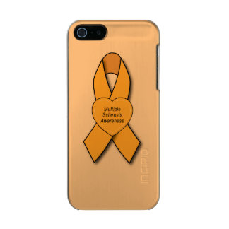 Multiple Sclerosis Awareness Ribbon with Heart Incipio Feather® Shine iPhone 5 Case