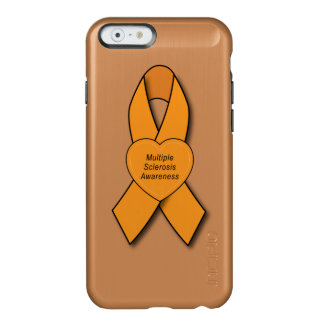 Multiple Sclerosis Awareness Ribbon with Heart Incipio Feather® Shine iPhone 6 Case
