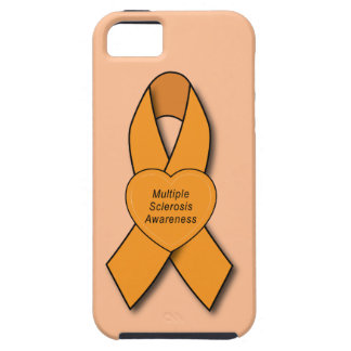 Multiple Sclerosis Awareness Ribbon with Heart iPhone 5 Case