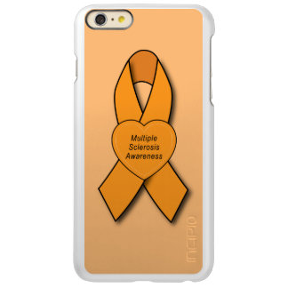 Multiple Sclerosis Awareness Ribbon with Heart Incipio Feather® Shine iPhone 6 Plus Case
