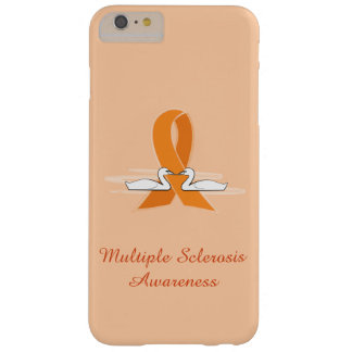 Multiple Sclerosis Awareness Ribbon with Swans Barely There iPhone 6 Plus Case