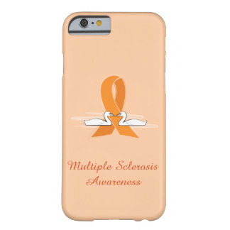 Multiple Sclerosis Awareness Ribbon with Swans Barely There iPhone 6 Case
