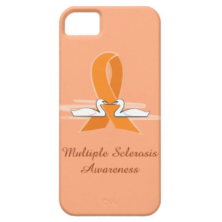 Multiple Sclerosis Awareness Ribbon with Swans Case For The iPhone 5
