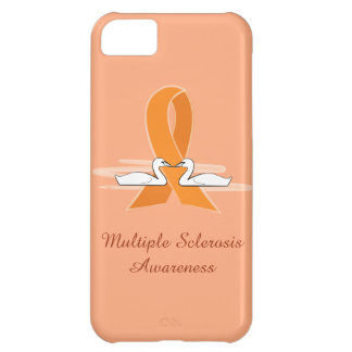 Multiple Sclerosis Awareness Ribbon with Swans iPhone 5C Case
