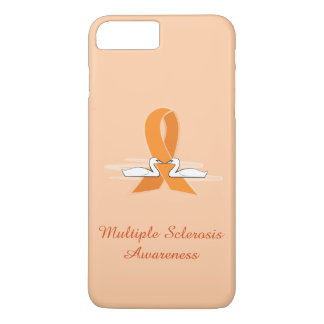 Multiple Sclerosis Awareness Ribbon with Swans iPhone 7 Plus Case