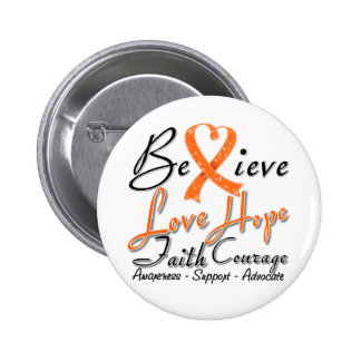 Multiple Sclerosis Believe Heart Collage 6 Cm Round Badge