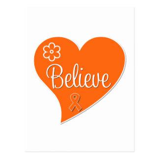 Multiple Sclerosis Believe Heart Postcard