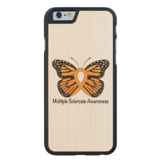 Multiple Sclerosis Butterfly Awareness Ribbon Carved® Maple iPhone 6 Case