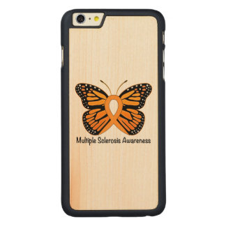 Multiple Sclerosis Butterfly Awareness Ribbon Carved® Maple iPhone 6 Plus Case