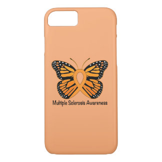 Multiple Sclerosis Butterfly Awareness Ribbon iPhone 7 Case