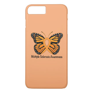 Multiple Sclerosis Butterfly Awareness Ribbon iPhone 7 Plus Case