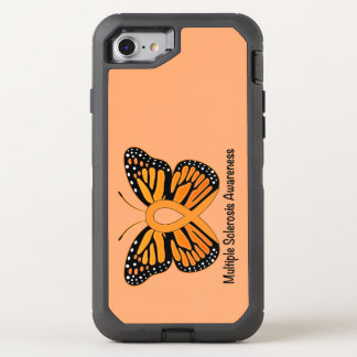 Multiple Sclerosis Butterfly Awareness Ribbon OtterBox Defender iPhone 7 Case