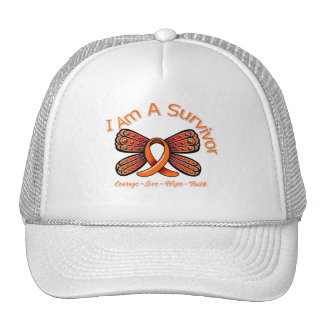 Multiple Sclerosis Butterfly I Am A Survivor Hats