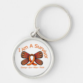 Multiple Sclerosis Butterfly I Am A Survivor Key Chains