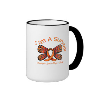 Multiple Sclerosis Butterfly I Am A Survivor Mugs