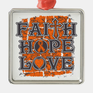 Multiple Sclerosis Faith Hope Love Christmas Ornament