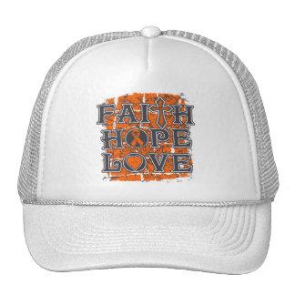 Multiple Sclerosis Faith Hope Love Trucker Hat