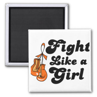 Multiple Sclerosis Fight Like A Girl Motto Refrigerator Magnet