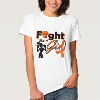 Multiple Sclerosis Fight Like A Girl Silhouette T Shirt