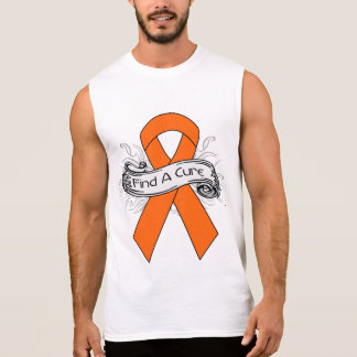 Multiple Sclerosis Find A Cure Ribbon Sleeveless Tees