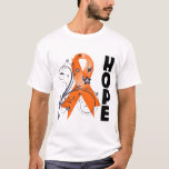 Multiple Sclerosis Floral Hope Ribbon T-Shirt