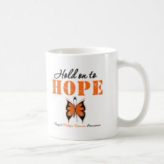 Multiple Sclerosis Hold On To Hope Classic White Coffee Mug