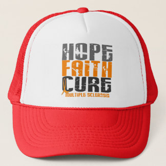 Multiple Sclerosis HOPE FAITH CURE Trucker Hat