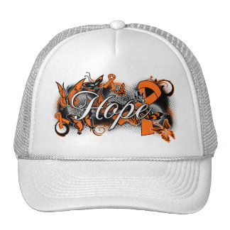 Multiple Sclerosis Hope Garden Ribbon Trucker Hats