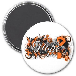 Multiple Sclerosis Hope Garden Ribbon Refrigerator Magnet