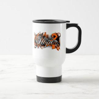 Multiple Sclerosis Hope Garden Ribbon Coffee Mugs