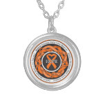 Multiple Sclerosis Hope Intertwined Ribbon Round Pendant Necklace