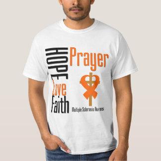 Multiple Sclerosis Hope Love Faith Prayer Cross T-shirts