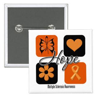 Multiple Sclerosis Hope Love Inspire Awareness 15 Cm Square Badge