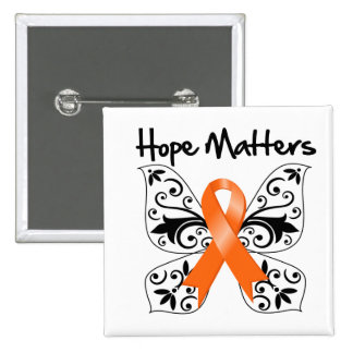Multiple Sclerosis Hope Matters 15 Cm Square Badge