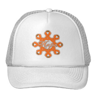 Multiple Sclerosis Hope Unity Ribbons Trucker Hat