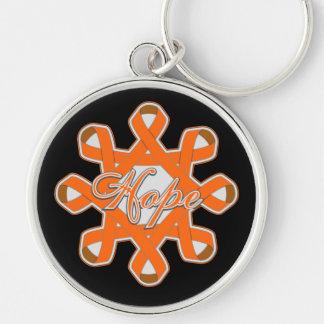 Multiple Sclerosis Hope Unity Ribbons Keychain