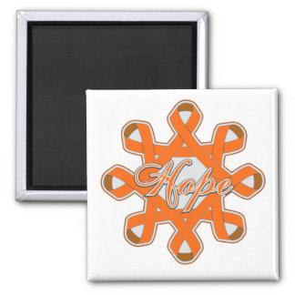 Multiple Sclerosis Hope Unity Ribbons Refrigerator Magnet
