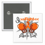 Multiple Sclerosis I Fight Like a Girl With Gloves Button