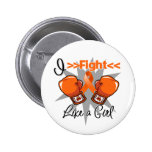 Multiple Sclerosis I Fight Like a Girl With Gloves Buttons