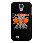 Multiple Sclerosis I Fight Like a Girl With Gloves Galaxy S4 Covers
