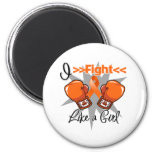 Multiple Sclerosis I Fight Like a Girl With Gloves Fridge Magnet