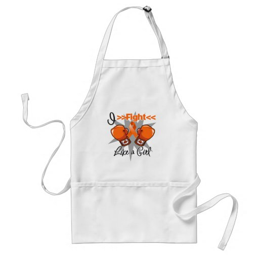 Multiple Sclerosis I Fight Like a Girl With Gloves Standard Apron