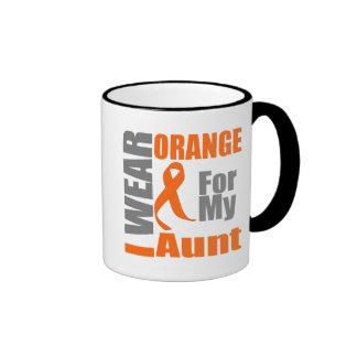 Multiple Sclerosis I Wear Orange Ribbon Aunt Ringer Mug