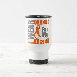 Multiple Sclerosis I Wear Orange Ribbon Dad Mugs