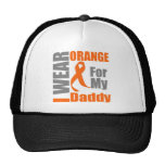 Multiple Sclerosis I Wear Orange Ribbon Daddy Hat