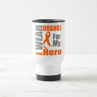 Multiple Sclerosis I Wear Orange Ribbon Hero Stainless Steel Travel Mug