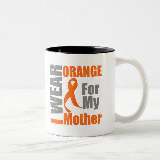 Multiple Sclerosis I Wear Orange Ribbon Mother Two-Tone Mug