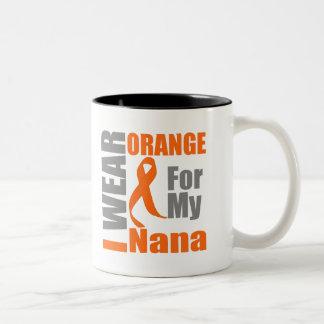 Multiple Sclerosis I Wear Orange Ribbon Nana Mug