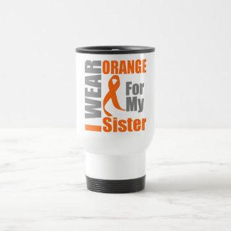 Multiple Sclerosis I Wear Orange Ribbon Sister Mugs